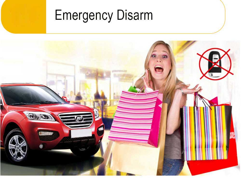Auto Démarrage À Distance Moblie Téléphone Contrôle PKE Vibration alarme de voiture Système D'entrée Sans Clé Verrouillage Central De Voiture Bouton Induction Start Stop - 2