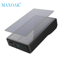MAXOAK 7800mAh Solar Power Bank Portable Hand Crank Generator External