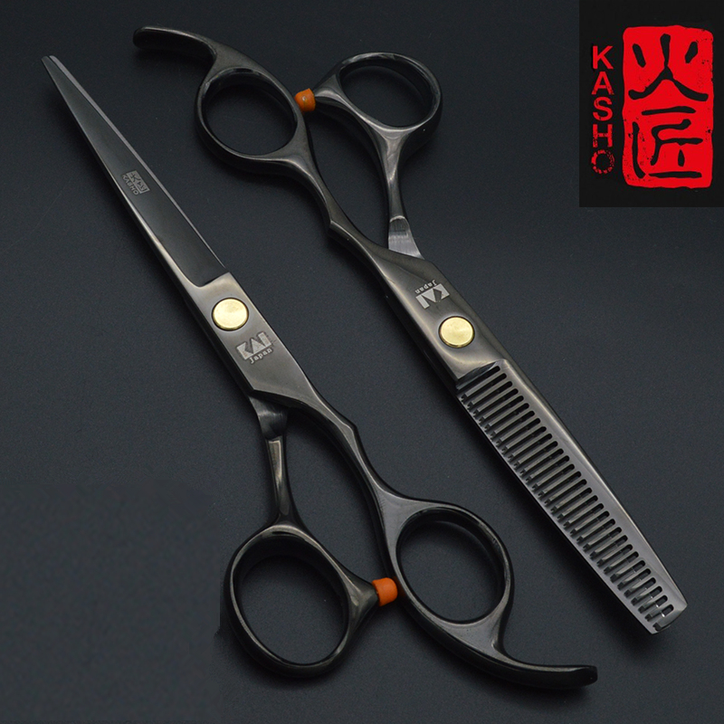 2pcs Kasho 5.5 or 6.0 inch Hair Scissors pro tesoura hairdressing styling tools salon cutting straight products free shipping 2015 new combination scissors fit scissors 5 5 inch hair scissor set salon scissors set tesoura hairdressing tools free shipping page 2