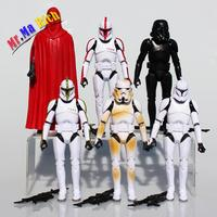16cm Big Size Star Wars Figure 6pcs Sets Stormtrooper Clone Trooper Black Knight Darth Vader Star