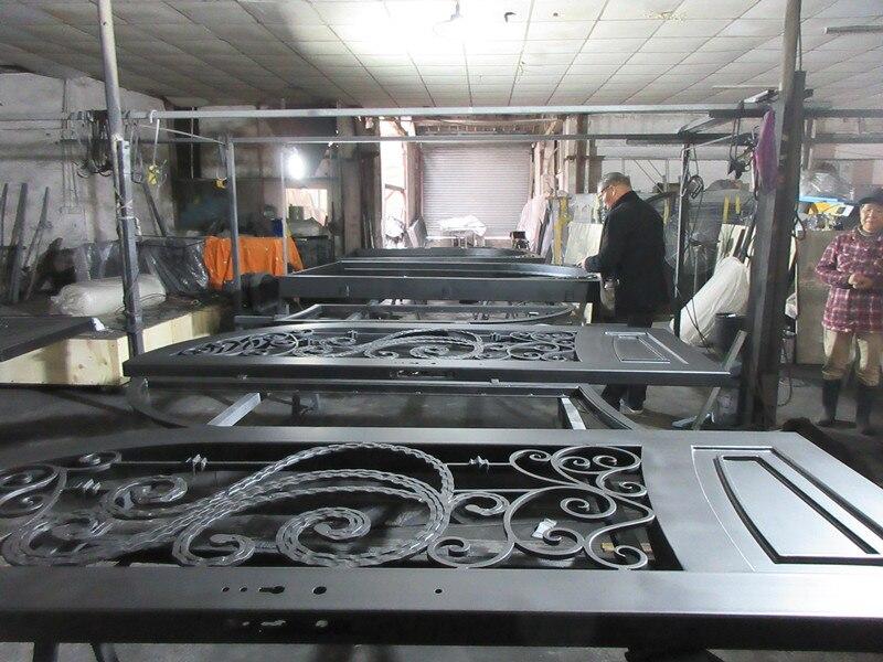 Custom made biggest jamb&door top quality wrought iron doors hench-id2