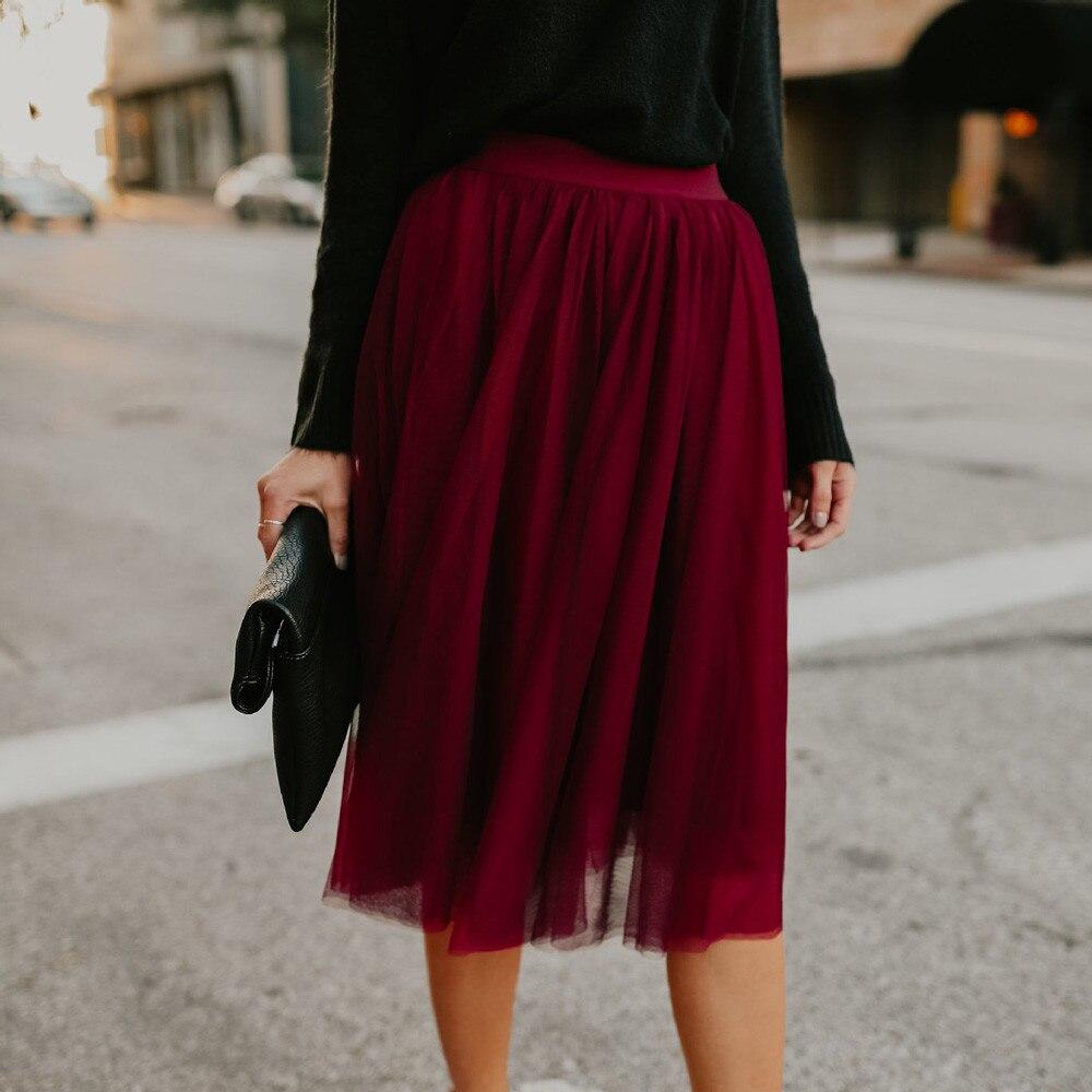 snowshineYLW  Womens Fashion  Skirt High Waist Solid Color Skirt freeshipping