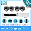 8ch AHD 960H CCTV DVR System 4pcs 600TVL Indoor IR Cameras 8 Channel DVR Kit Security