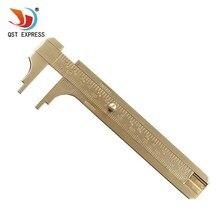 Hohe Qualtiy Messen Messung Werkzeug Tasche 0-100mm Mini Messing Schiebe Gauge Messschieber