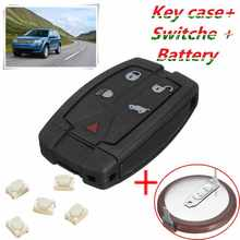 5 Button Remote Key Case Recase font b Battery b font Repair Kit For Land Rover