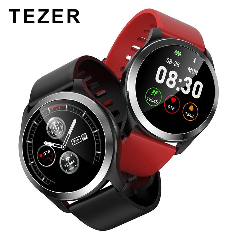 TEZER 2019 Relógio Inteligente Z03 PPG + ECG Pressão Arterial e Freqüência Cardíaca Relógio Do Esporte Pulseira Inteligente Rastreador De Fitness Rastreador Inteligente PCG