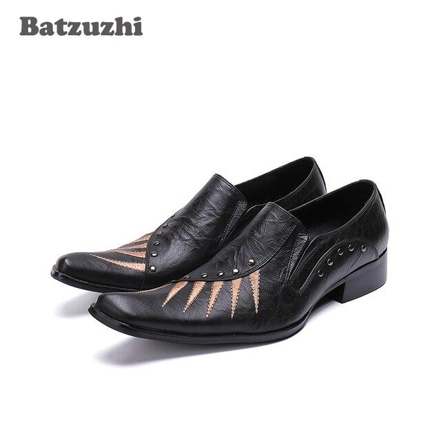 b903a25bbc4 Batzuzhi Luxury Handmade Men Shoes Black Genuine Leather Dress Shoes Men  Formal Leather Shoes Business Man Zapatos Hombre