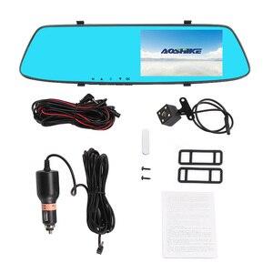 Image 5 - AOSHIKE 4,7 pulgadas grabador de conducción espejo retrovisor para coche grabador Full HD 1080P doble pantalla de grabación Camara de vehiculo dvr