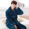 Alta Calidad Engrosamiento de Invierno de Coral Polar Pijamas Ropa de Dormir Camisón de Los Pijamas de Los Hombres Caliente Pijamas de Hombre Más El Tamaño L-XXXL