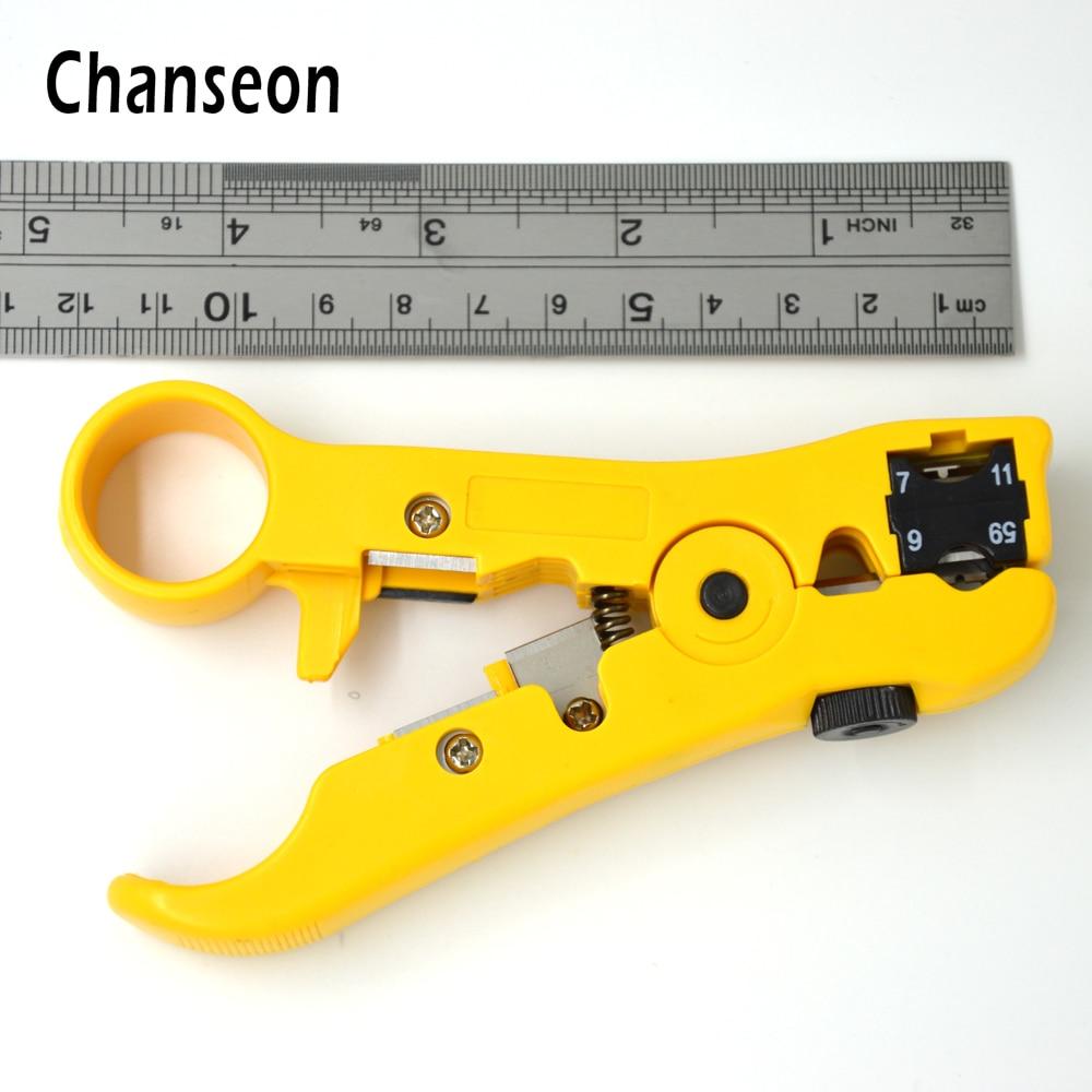 Chanseon Automatique Câble À Dénuder Outils À Dénuder Électrique pour UTP/STP RG59 RG6 RG11 RG7 Multi-fonctionnelle Cutter Striper