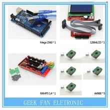 1 шт. мега 2560 R3 + 1 шт. платформы 1.4 контроллер + 5 шт. A4988 шагового модуль драйвера + 1 шт. 12864LCD для 3d-принтер котроллеру