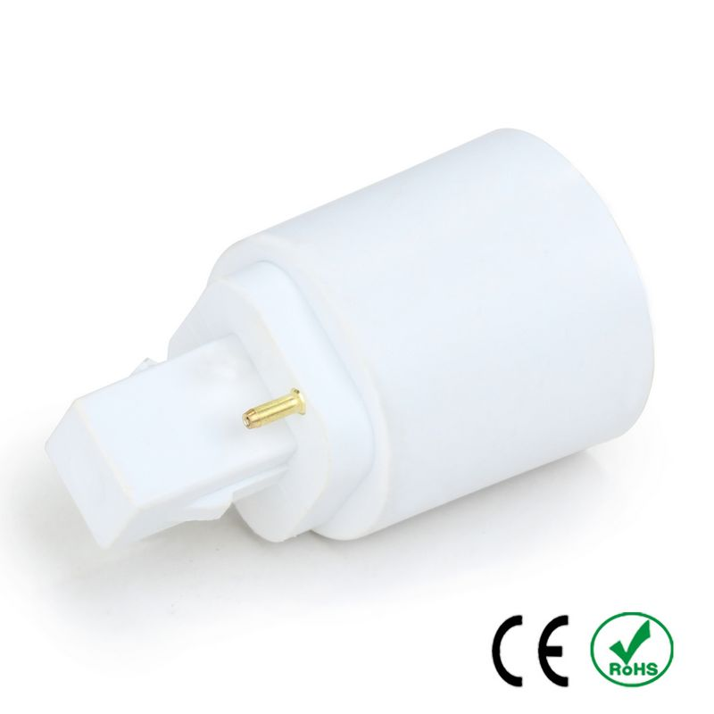 200pcs G24 to E27 E26 Adapter Lamp Holder Converter Lamp Base Socket Fireproof PBT Copper LED Light Bulb Holder Extender Plug