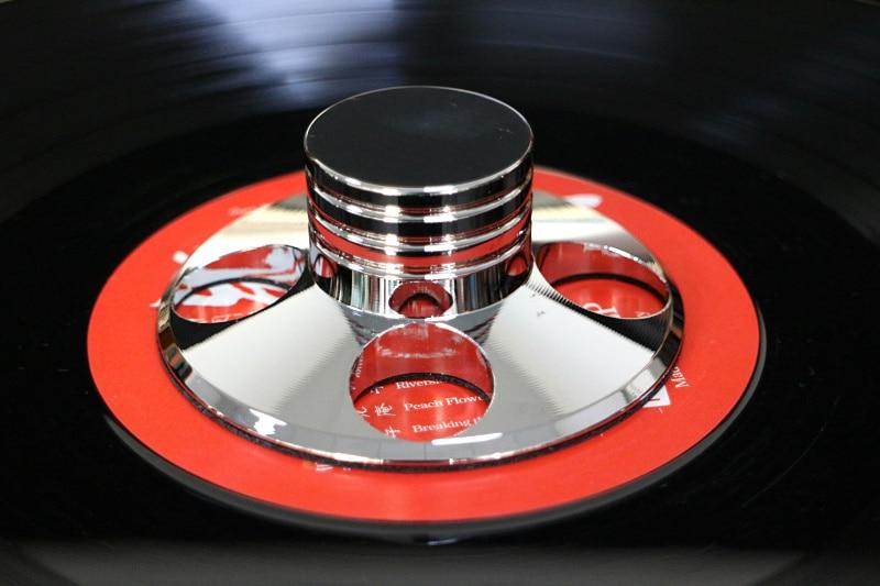 Audio LP Vinyle Platines Métal Stabilisateur de Disque Record Poids Pince Argent couleur