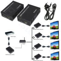 1080 마력 100 메터 328피트 HDMI 익스텐더 하나의 CAT5E/6 네트워크 RJ45
