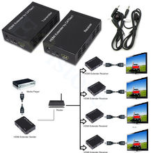1080P 100M 328ft HDMI Extender Over One CAT5E/6 Network RJ45 Cable TCP/IP Technology Splitter Repeater HDCP With IR Loop Control
