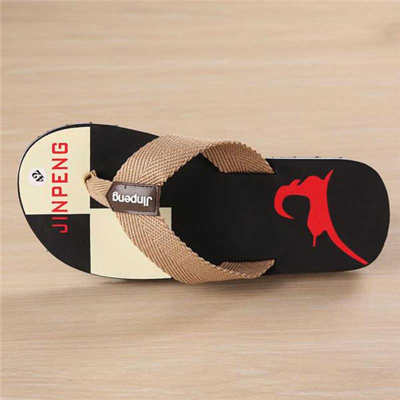 LIANHUAXIANG yeni moda yaz erkek Flip flop yüksek kalite plaj tatil sandalet kaymaz erkek terlik rahat ayakkabılar