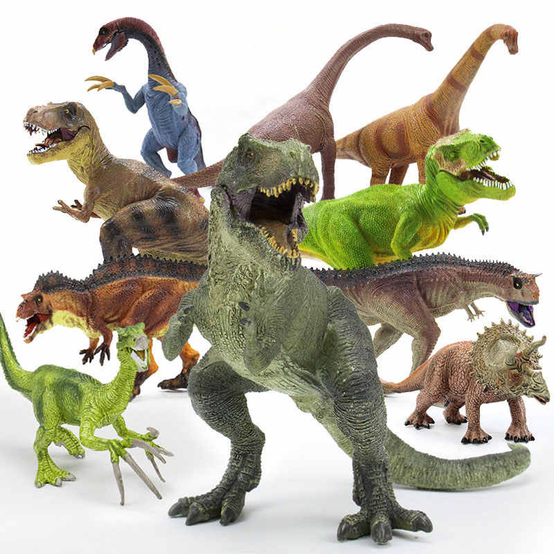 21 estilos de Figuras de Ação & Toy Modelo Plesiossauro Brachiosaurus Dinossauro Tiranossauro Dragão Coleção Coleção Brinquedos Modelo Animal