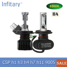 New H27/880 h4 H7 Led Headlight H13 9005 HB3 9006 HB4 Led Car Bulb 6500K 8000LM CSP Chip 50W Fan-less H8 H11 Fog Lamp Promotion(China)