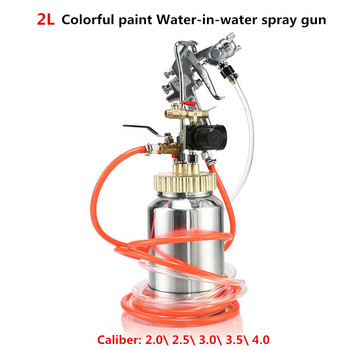 Colorful paint Water-in-water spray gun Pressure tank ejection gun 2L for Marble paint Latex paint stone paint Y фото