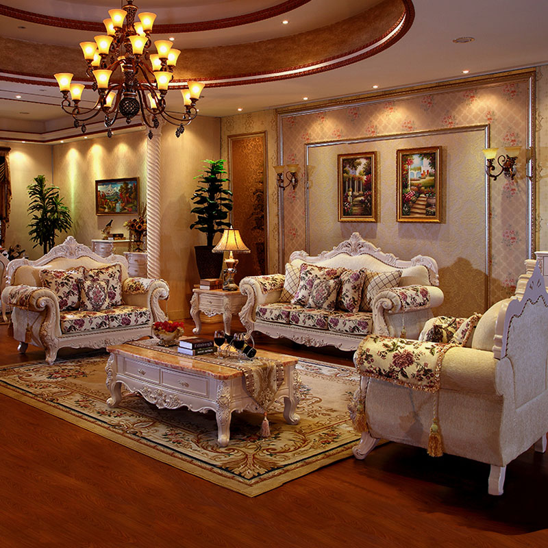 Luxury Furniture Fabric Sofa Living Room Furniture Set Group Buying Wholesale Price Home Decoration