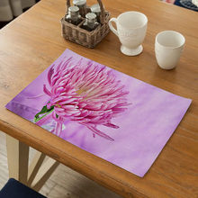 New Pastoral Style Flower Pattern Table Mat Drink Coaster Table Mat Kitchen Decoration Table Napkin Placemat Dining Accessories flower pattern dining table placemat pastoral style tableware pad coaster coffee tea place mat kitchen decoration accessories