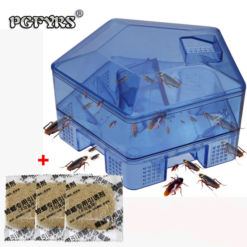 NEW Cockroach Trap sixth Upgrade Safe Efficient Anti Cockroaches Killer Plus Large Repeller No Pollute For Home Office Kitchen
