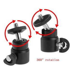 "Image 1 - 1/4"" Hot Shoe Mini Ball Head Flash Bracket Holder Mount Screw Metal 360 Degrees For Camera Tripod"