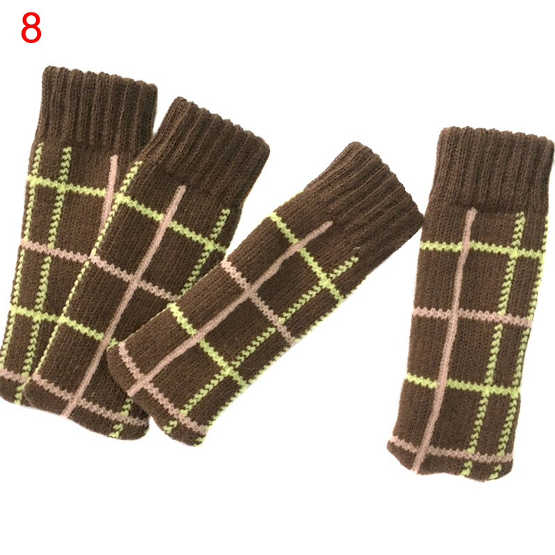 4 Pcs/Set Chair Leg Cover Knitted Socks Non-slip Table Legs Sleeve Home Floor Protector LXY9 0805 0603 0402 1206 smd capacitor resistor assortment combo kit sample book lcr clip tweezer