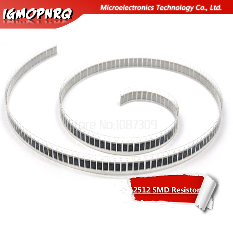 50Pcs 2512 SMD Chip Fixed Resistor 1% 1W 0.1R 0.01R 0.05R 0.001R 0.33R 1R 0R 10R 100R 1K 0.001 0.01 0.1 0.33 0.05 1 0 10 100 Ohm