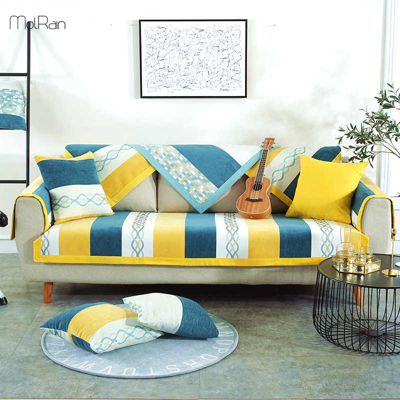 Chenille Sofa Cover For Couch Towel