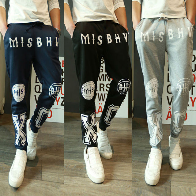 cd0632c7b9 Spring Summer Casual Men Cross-pants Mens Sports Loose Cotton Pants Boys  Harem Printed Pants