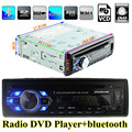 Universal 1 Din Car Radio DVD Player USB SD AUX In Autoradio FM Stereo Music MP3 Audio Bluetooth Subwoofer Auto Radios Charging