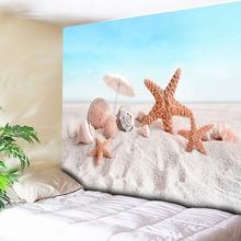 цена на Big Starfish 3D Printed Tapestry Blue Sea Wall Hanging Beach Towel Large Wall Tapestries Art Carpet Hippie Wall Blanket for Home
