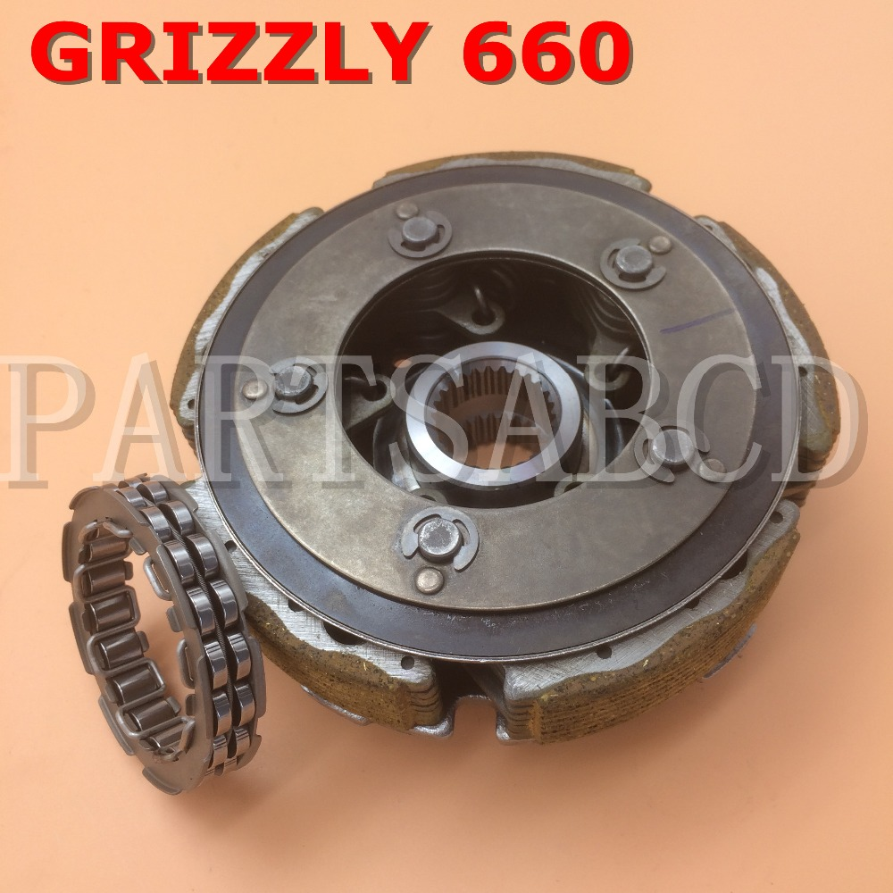 hight resolution of partsabcd clutch carrier assembly for yamaha grizzly 660 wet clutch shoe carrier 2002 2008 in atv parts accessories from automobiles motorcycles on