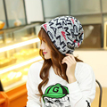 Winter 2016 new Warm non-eaves cap cap Men and women universal leisure section printed hat