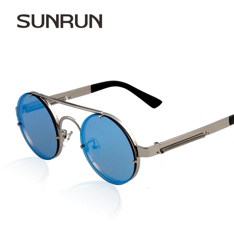 Óculos De Sol mulheres espelhar óculos punk do vapor SUNRUN Colorido marca  de moda óculos de sol oculos 81510 d84abff511