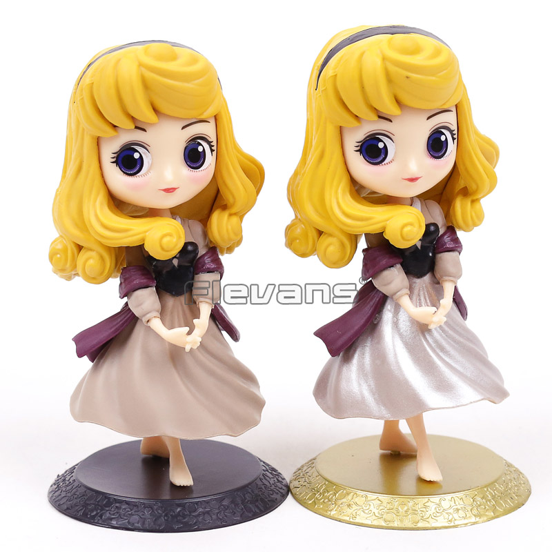 Q Posket Characters Princess Aurora Toy Doll Sleeping Beauty PVC Figure Gift for Children Girl
