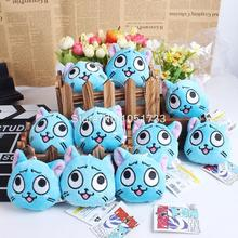 Anime Fairy Tail Happy Plush Toy Doll with Ring Soft Stuffed Cartoon Doll 10pcs lot