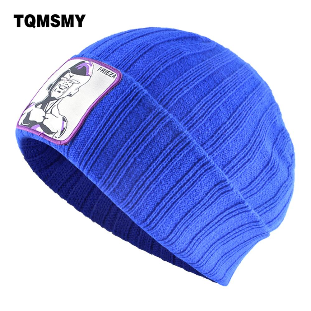 TQMSMY Knitted Beanie Hat Men Women Fashion Knitting Skullies Cap With FRIEZA Patch Streetwear Hip Hop Bone Gorras Dragon Ball(China)