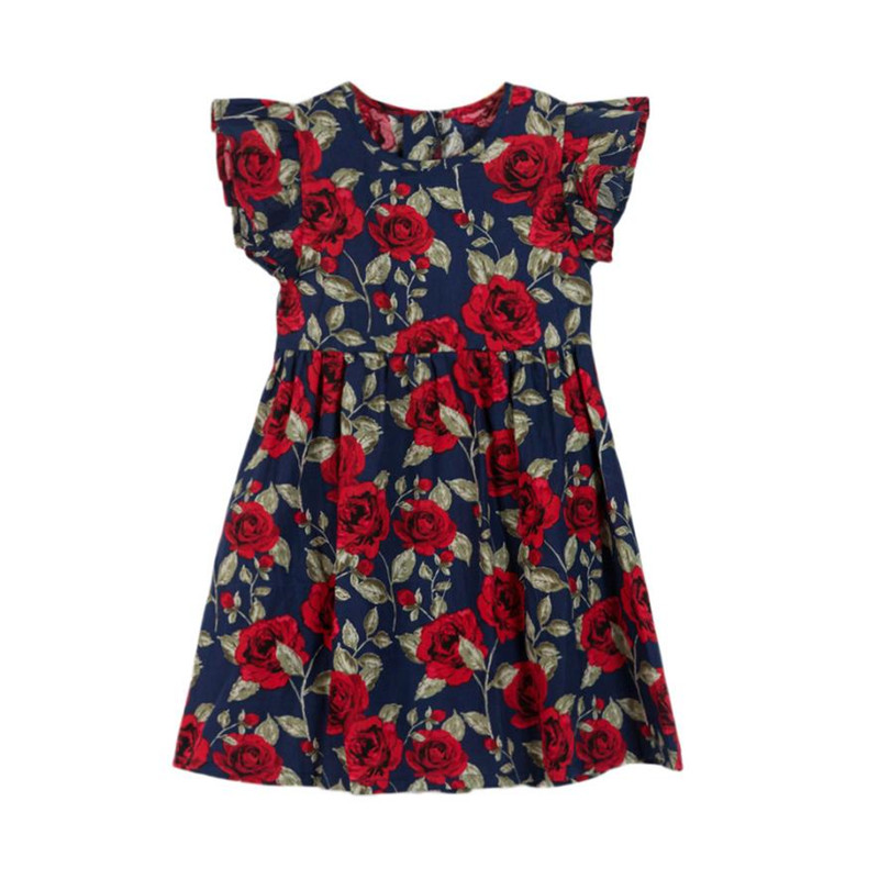 Yangmaile Toddler Dresses Summer Baby Fashion Girls Kids Infant Toddle Floral Bow Sleeveless Party Clothes Princess Dress #20