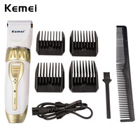 Kemei Rechargeable Professional Hair Clipper Adjustable Haircut Hair Cutting Machine Men S Electric Beard Hair Clipper