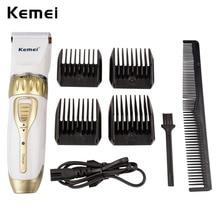Kemei Rechargeable Professional Hair Clipper Adjustable Haircut Hair Cutting Machine Men's Electric Beard Hair Clipper Trimmer