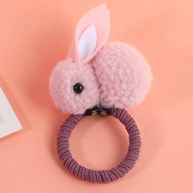 New Cute  Animals Rabbit  Style Hair Bands Felt Three-Dimensional Plush Rabbit Ears Headband For Children Girls Hair Accessories 2