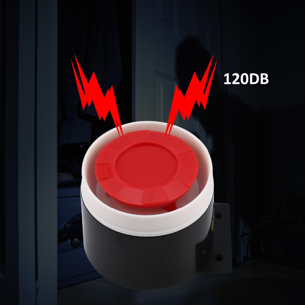 Mini Wired Siren Horn Security Mini Siren Sensors Alarms 120dB Loudly Siren DC 12V Home Security Alarm Systems 1pcs dc 12v mini wired siren horn for wireless home alarm security system 120db house office protecting sensors