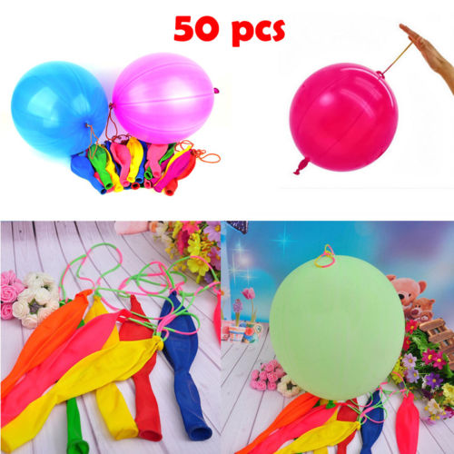 Ballons & Accessories Precise 50pcs Large Punch Ball Balloons With Elastic Party Bag Fillers Pinata Kids Toys Big Clearance Sale Home & Garden