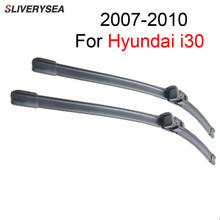 SLIVERYSEA Windscreen Wipers Blade For Hyundai i30 2007-2010 Pair 24''+18'' Windshield Soft Rubber Car Accessories Auto,CPC105-3