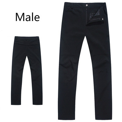 Autumn winter new style outdoor Fleece Pants men and women waterproof windproof breathable thick warm climbing soft shell pants new fashion style hot sale autumn winter thick male jeans straight slim looking men full length pants heavyweight solid cozy