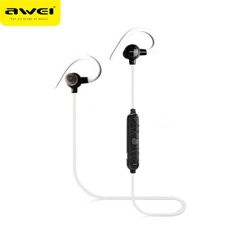 AWEI A620BL Sport In-Ear Wireless Earphone Bluetooth Earphones For Xiaomi Sony iPhone Earbuds With Microphone Earpiece For Apple