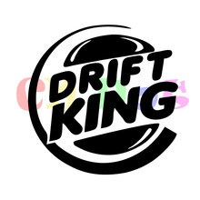 Drift King Decal Funny Car Truck SUV Window Bumper Rear Windshield Vinyl Decal Sticker JDM decals reflective(China)