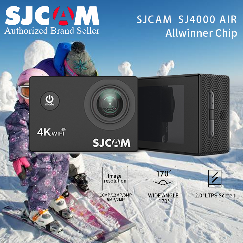 SJCAM SJ4000 AIR 4K WiFi Action Camera Full HD Allwinner 30fps Sport DV 2.0 Screen Mini Helmet Camera Waterproof MINI SJ CAM DVSJCAM SJ4000 AIR 4K WiFi Action Camera Full HD Allwinner 30fps Sport DV 2.0 Screen Mini Helmet Camera Waterproof MINI SJ CAM DV
